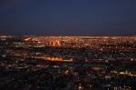 One city or two? Night view of El Paso/Ciudad Juárez.