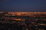 One city or two? Night view of El Paso/Ciudad Juárez.